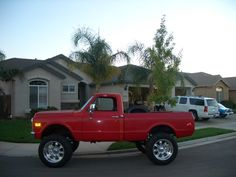 """Project:1972 SWB 4X4 on 35""""s with 6"""" lift all around 3/4 ton running gear with high steer and 4.88s 350/th350."""