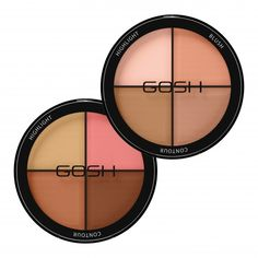 GOSH CONTOUR'N STROBE KIT is a must have basic kit for contouring, strobing and highlighting composed of two essential bronzers, a semi-matte blush and a highlighter - everything you need to define and highlight facial features. Bronzer, Concealer, Matte Blush, Perfume, Make Up, Make It Yourself, Kit, Strobing, Face Skin