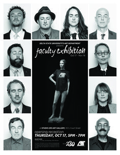 Art Department Annual Faculty Exhibition to Run Oct. 14 - News and Events High Contrast Photos, 14 News, Documentary Filmmaking, Associate Professor, Political Issues, Time Capsule, Digital Media, State University, Installation Art