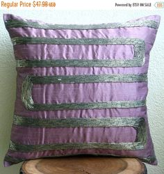 15% HOLIDAY SALE Purple Motions  Euro Sham by TheHomeCentric
