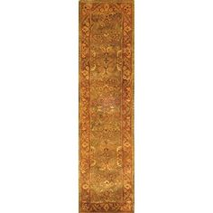 Safavieh Golden Jaipur Collection GJ250A Handmade Green and Rust Wool Runner 2 feet 3 inches by 20 feet 23 x 20 *** For more information, visit image link.