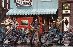 david mann's motorcycle art book   Motorcycle Art - David Mann