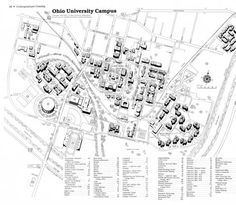 Athens Campus Map.60 Best Aerial Views And Maps Of The Ohio Campus Images Aerial