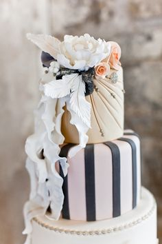 Marie Antoinette-Inspired Wedding cake