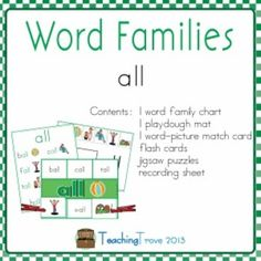 1000+ images about School- word family on Pinterest | Word ...