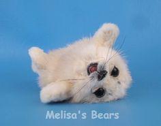 4in $400Ooak Lifelike Miniature Artist Recycled Mink FUR Baby Seal PUP Melisa'S Bears   eBay