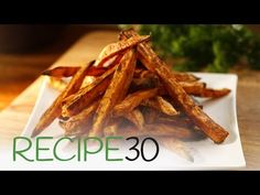 Sweet Potato Fries - Easy Meals with Video Recipes by Chef Joel Mielle - Quick Easy Dinner, Quick Easy Meals, Oatmeal Breakfast Bars Healthy, Side Recipes, Easy Recipes, Healthy Appetizers, Healthy Foods, Recipe 30, Fried Potatoes