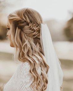 42 Different Wedding Hairstyles With Veil ❤ wedding hairstyles with veil bohemian bride braided half up haircomesthebride #weddingforward #wedding #bride #weddinghairstyleswithveil #bridalhair #weddingbeauty