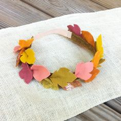 PREORDER // Felt Autumn Leaf Crown // Photo by fancyfreefinery