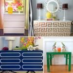 Dress up plain furniture with fretwork