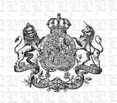 Lion Unicorn Image Coat of Arms Graphic by luminariumgraphics