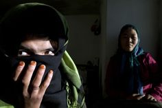 Bas Gul, left, 17, lives in a women's shelter/safe house in Bamiyan, Afghanistan. She was forced to marry at 11 to a 5 year-old boy and ran away after 5 years. Until women's shelters were started after 2003, a woman in an abusive marriage usually had no one to turn to for protection. Since the overthrow of the Taliban in 2001, a more concrete idea of women's rights has begun to take hold, promoted by the newly created Ministry of Women's Affairs and a small community of women's advocates.