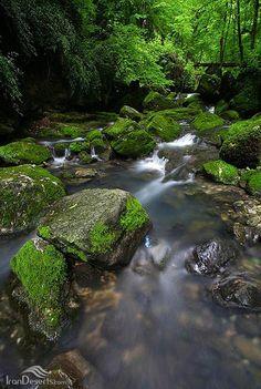 Pashmaki waterfall, Ramian, Golestan province, Iran - Geographical position: N365449 E550348, (in Persian: آبشار پشمکی، رامیان، استان گلستان)