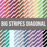 Big Stripe Diagonal Digital Background Paper - Commercial