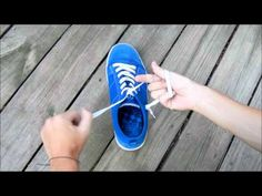 This is the best (and fastest) way to tie shoes. I even teach the kids when I'm subbing. It blows their minds.