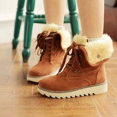 B66 vrouwen winter laarzen warm snow boots platform kant- up schoenen voor vrouwen verdikken enkellaars plus size 35 tot 43