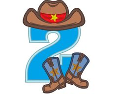 Cowboy Birthday kicking boots only one any number to by artapli