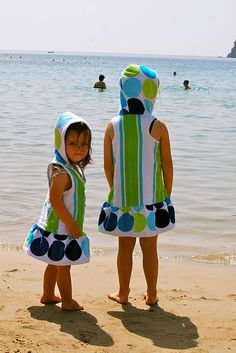 - these would be perfect for my girls, now just to find someone willing to sew these for me! :)  diy beach towel dresses: perfect for summer