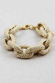 Cinnaryn Rhinestone Chain Link Bracelet $49
