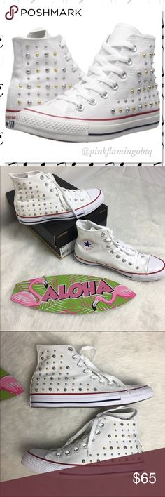 0414c9599014ce NWT Converse All-Star White Studded High Top NWT Converse All-Star White  Studded · Converse All Star WhiteHi Top ConverseConverse ShoesShoes  SneakersFashion ...