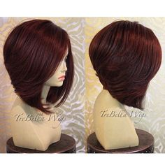 ❤️THIS!!! TreBella closure bob unit. I don't have specs for this unit. I did not color this hair... the client sent in pre-colored hair. If you have questions regarding a custom unit please visit the website's frequently asked questions page for more information. The link is in the bio.  #wig #wigs #wigmaker #wigmaster #trebella #trebellawigs #bob #layers #hair #hairstyle #haircut #thecutlife #extensions #customunit #closureunit #protectivestyle