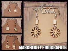 Orecchini in legno pirografati - Wood Earrings Pyrography