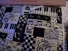 Music Themed Print cotton fabric Let the Music by dreamweaver1954
