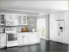 Image Result For White Kitchen With White Ice Appliances