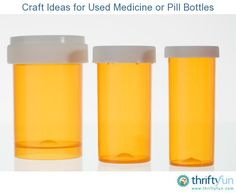This is a guide about craft ideas for used medicine or pill bottles. Rather than throwing them away or into the recycle bin, you can make many creative projects using medicine or pill bottles.