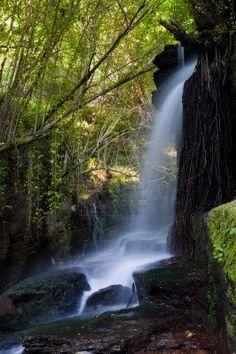 Río Eifonso cascada, en Vigo, Pontevedra, Galicia, España