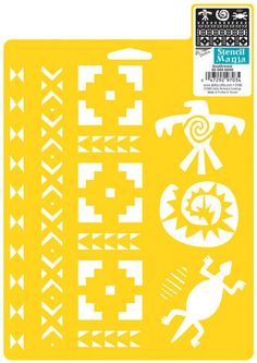 Delta Creative Stencil Mania Stencil, 7 by 970760710 Southwest. Made of flexible plastic for easy crafting. Clean with soap and water. Stencils are reusable. Fresh and on trend designs. Personalize any project easy. Wholesale Craft Supplies, Craft Supplies Online, Arts And Crafts Supplies, Easy Paper Crafts, Stencil Painting, Paint Stencils, Stencil Designs, Sewing Stores, Quilting Designs