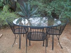 1950u0027s woodard pinecrest patio table and 4 chairs 550 on ebay