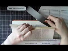How to use a magnetic ruler to book fold - YouTube