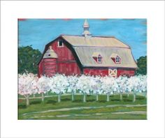 """Springtime"" - reproduction print of an acrylic painting by Barb Timmerman."