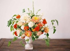 Florals by Lovely Little Details Photo by Jessica Burke Basil, Oregano, Thyme and Tomatoes