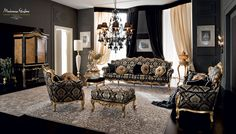 Venetian-classic-luxury-living-room-ebroidered-fabrics-Casanova-collection-Modenese-Gastone.jpg - Soggiorno veneziano in stile classico