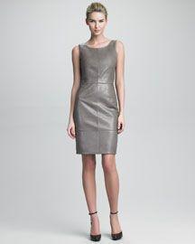 Armani Collezioni Leather Dress