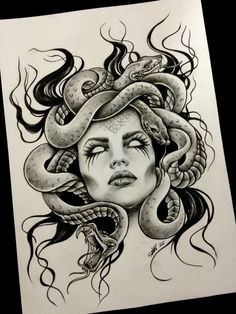 Great idea for a tattoo Spanish tattoos Tattoos for women . - Great idea for a tattoo Spanish tattoos Tattoos for women did … - Sketch Tattoo Design, Tattoo Sketches, Tattoo Drawings, Tattoo Designs, Medusa Tattoo Design, Badass Drawings, Sketch Design, Design Model, Art Sketches