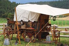 We build & restore authentic stagecoaches, chuck wagons, hitch wagons, covered wagons, horse drawn carriages; antique wagon parts. Horse Wagon, Horse Drawn Wagon, Cattle Drive, Saloon, Fifth Wheel Trailers, Wooden Wagon, Old Wagons, Chuck Box, Covered Wagon