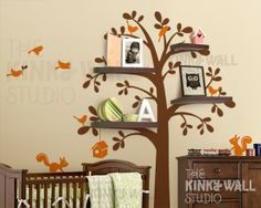 Tree with shelves fir books, pictures, and other fun stuff :).  I need!