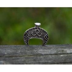 Wisiorek Lunula z runą Othal Bracelets, Silver, Jewelry, Jewlery, Money, Bijoux, Schmuck, Jewerly, Bracelet
