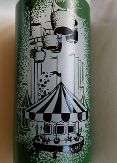 1962 SEATTLE WORLD FAIR GLASS World of Entertainment-FROSTED TUMBLER-CENTURY 21