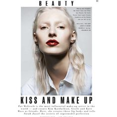 5233202dcaf Julia Nobis Models Bold Lipstick Shades for Sunday Times Style
