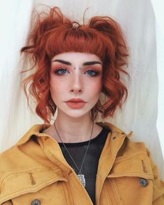 """Nathalie's cute style and gorgeous color is too perf! 😍 Add a little Purple Rain and Cosmic Sunshine to Sunset Orange for a similar auburn shade! Hair Inspo, Hair Inspiration, Cheveux Oranges, Vegas Hair, Arctic Fox Hair Color, Arctic Fox Purple Rain, Hair Trends, Dyed Hair, Cool Hairstyles"
