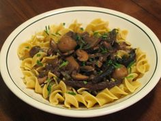 Mushroom Bourguignon - A Warm Vegetarian Stew that's even better reheated