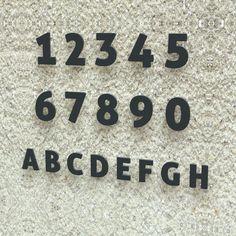 Hausnummer Nr. 3 - Schriftart: Modern - Höhe: 20 - 30 cm - viele Farben wählbar (RAL 7016 anthrazitgrau (anthrazit grau) glänzend, 20 cm): Amazon.de: Küche & Haushalt