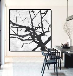 Large Abstract Painting Canvas Art Landscape par CelineZiangArt