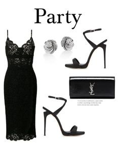 """801"" by meldiana ❤ liked on Polyvore featuring De Beers, Dolce&Gabbana, Yves Saint Laurent and Giuseppe Zanotti"