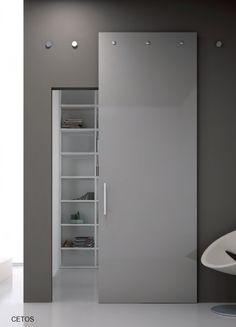 Porta a filo muro tutto vetro | Porte interne e divisori in vetro ...