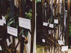 wedding seating chart on vintage gate from Vintage Ambiance | Jennifer Tai Photo Artistry